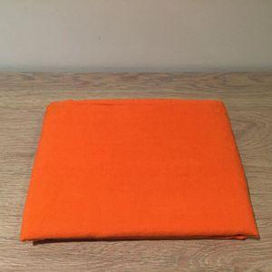 HOUSSE DE COUETTE Taie Oreiller Lin Lavé 65x65-orange-65x65