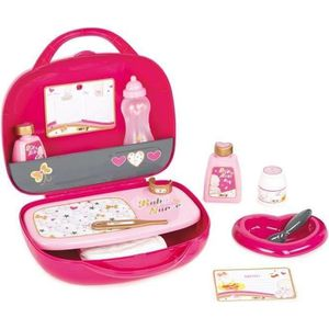 COIFFEUR - ESTHÉTIQUE SMOBY Baby Nurse Vanity Rose + 12 Accessoires