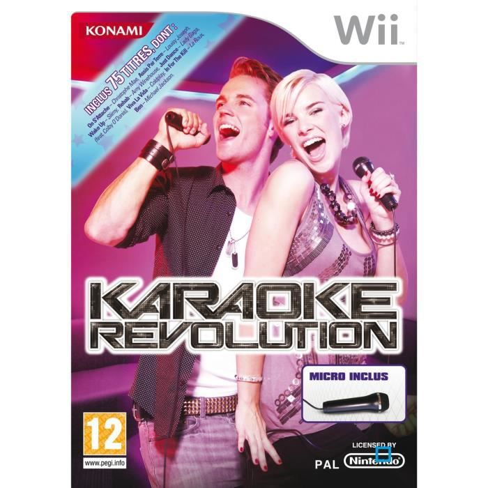 karaoke revolution micro jeu console wii achat. Black Bedroom Furniture Sets. Home Design Ideas