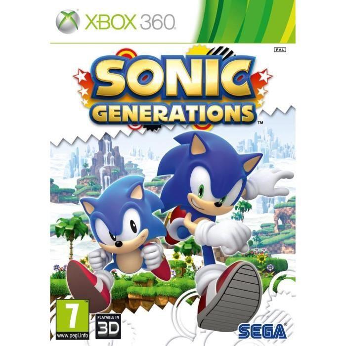 JEU XBOX 360 SONIC GENERATIONS / Jeu console X360