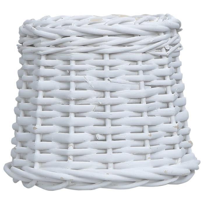 Abat-jour Osier 20x15 cm Blanc - ABAT-JOUR VENDU SEUL