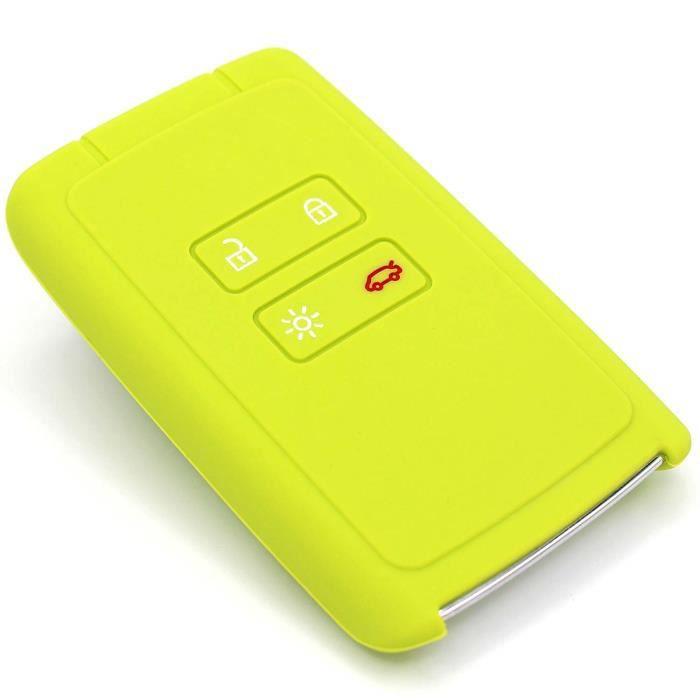 Coque en silicone Finest-Folia - Pour clé de voiture à 4 boutons vert lime 1012