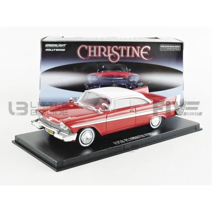 Voiture Miniature de Collection - GREENLIGHT COLLECTIBLES 1/43 - PLYMOUTH Fury Christine - 1958 - Red / White - 86529