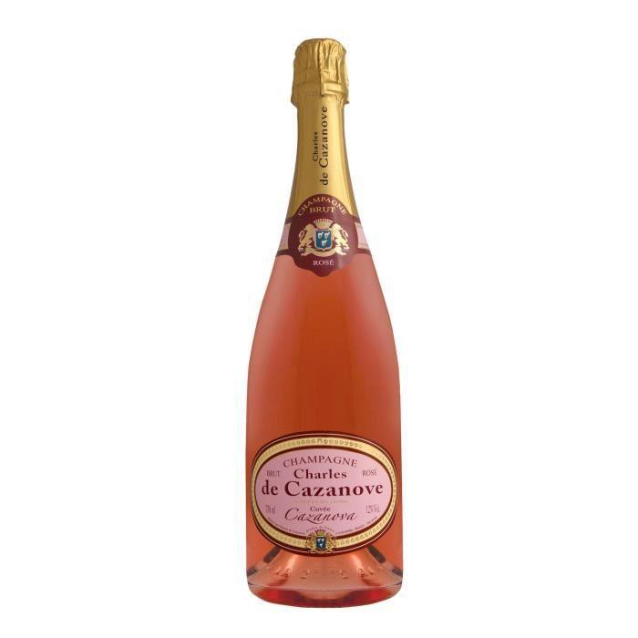 Champagne Charles de Cazanove Cuvée Cazanova Rosé - 75 cl