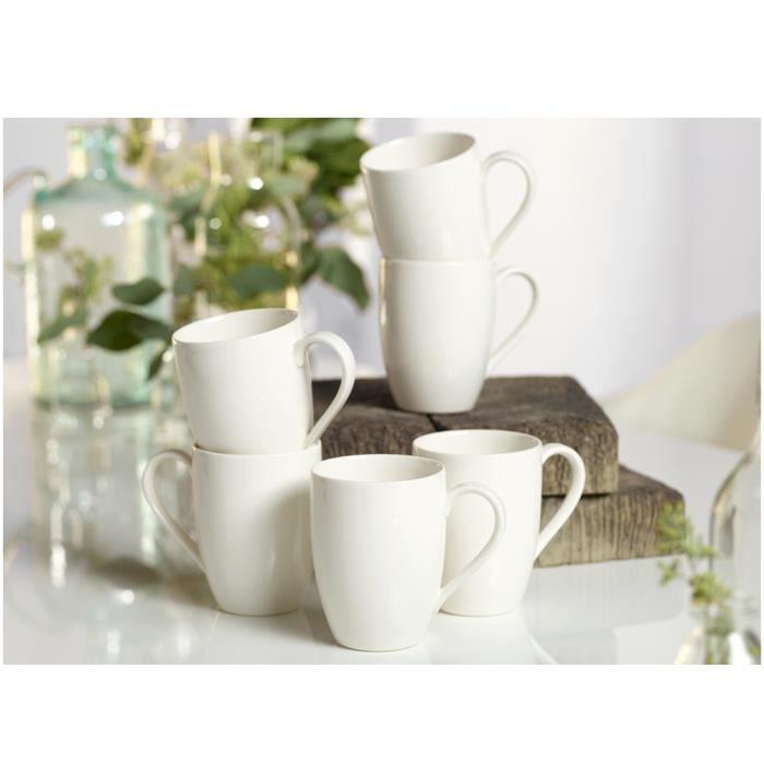 vivo by Villeroy & Boch Group Basic White Mug à café 300 ml 6 pièces