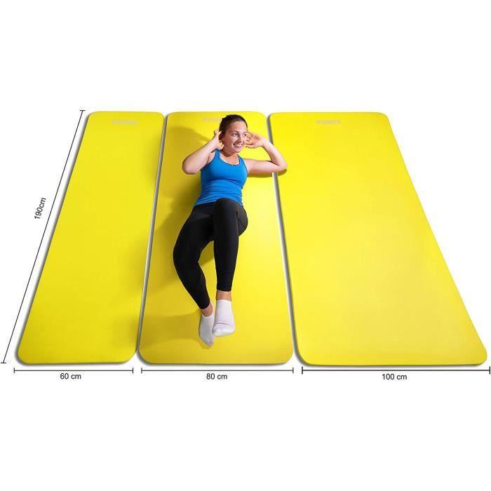 pis de Gymnastique Anti-DÉRAPANT sans phtalates-Tapis de Sol – Pilates-Sangle de Transport + Sac + Poster d´entraînement-Dimens 373