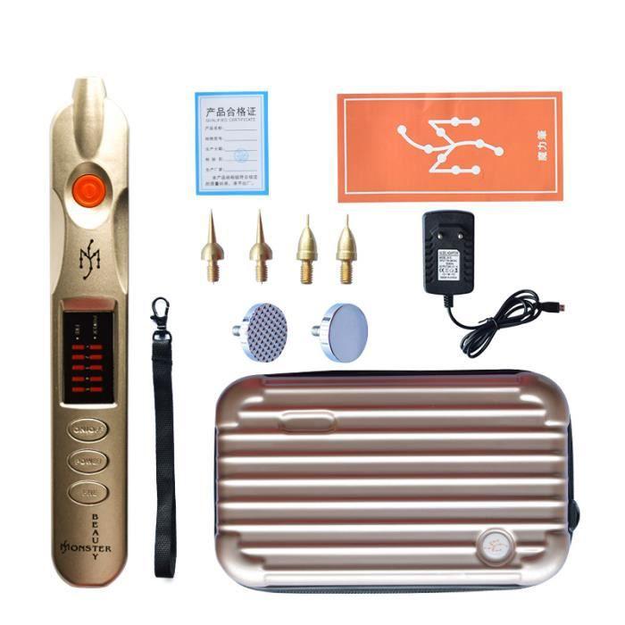 APPAREIL DE MASSAGE MANUEL,Laser Plasma stylo paupières ascenseur taches de rousseur acné étiquette de peau détachant - Type Argent