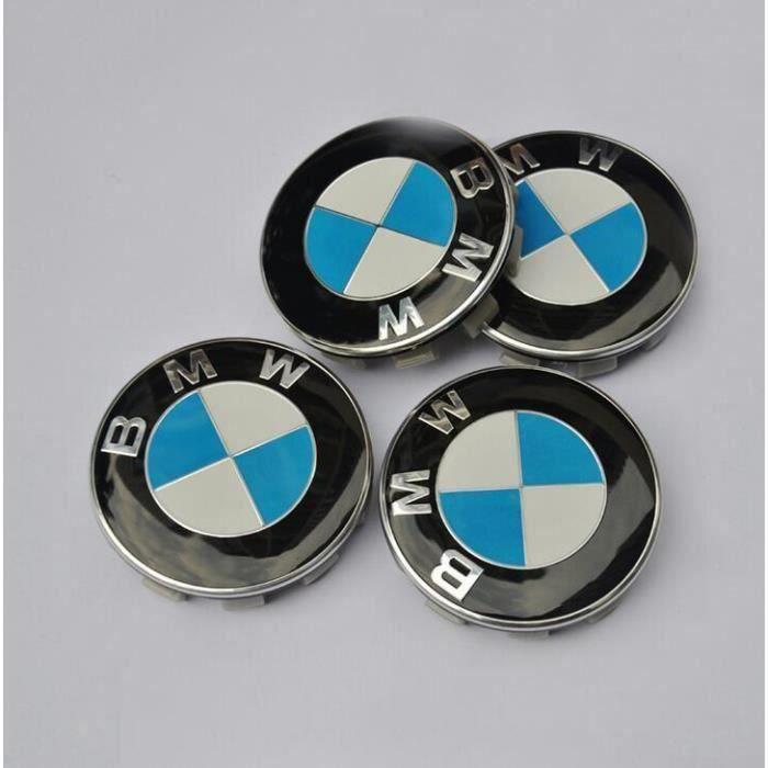 4x68mm BMW Hubcaps logo Centre de la roue de Logo Bleu et drapeau blanc Series 1 3 5 7 M Z X Stud Jantes Alliag