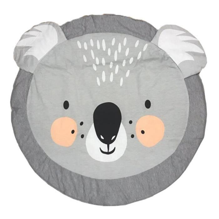Tapis d'éveil,Bébé tapis de jeu rampant tapis couverture coton tapis rond tapis de sol enfants tapis de jeu activité - Type koala