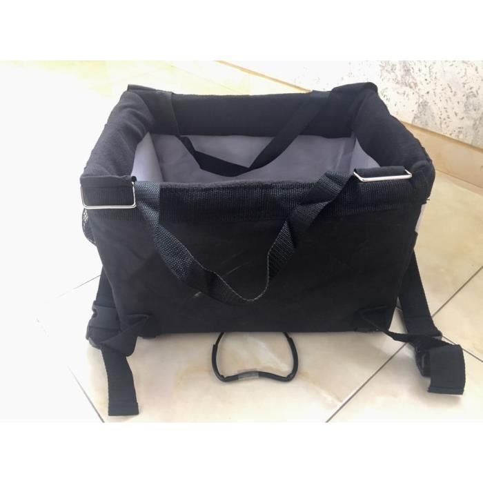 Sac de transport,Sac porte vélo pour animaux domestiques Amovible, sac de transport pour vélo, chien chat - Type Black-38x27x26cm