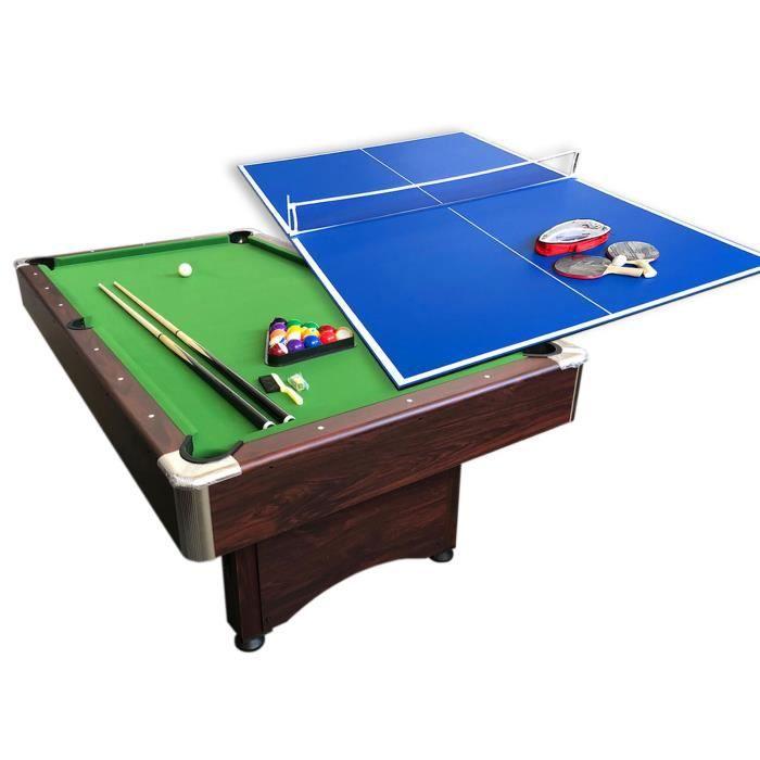 BILLARD AMERICAIN 7FT Snooker table de billard Sirio + PLAN TENNIS DE TABLE