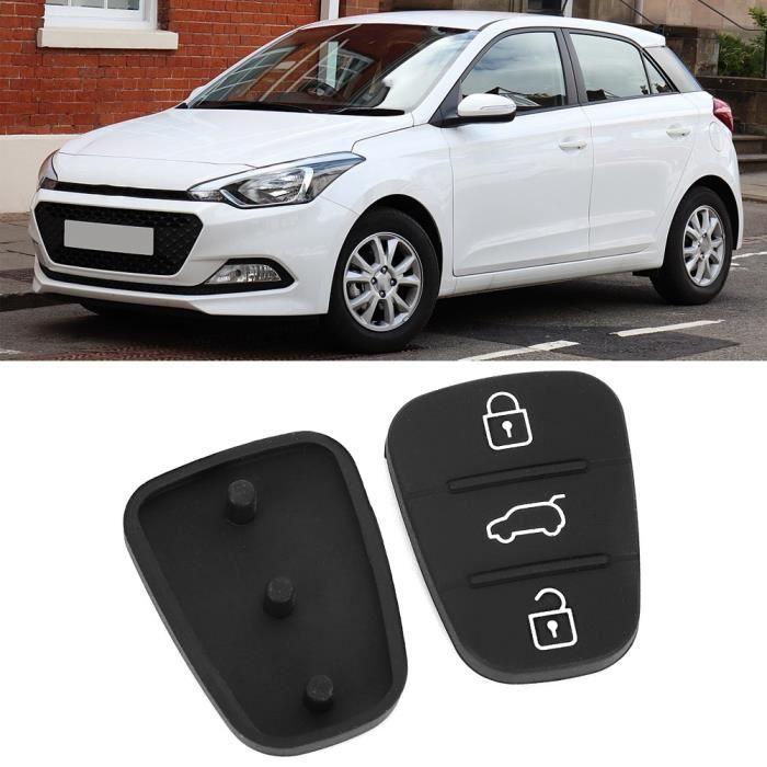 Qiilu Housse de clé 2 pièces pliable Flip voiture clé étui coque couverture caoutchouc pad remplacement adapté pour Hyundai I10