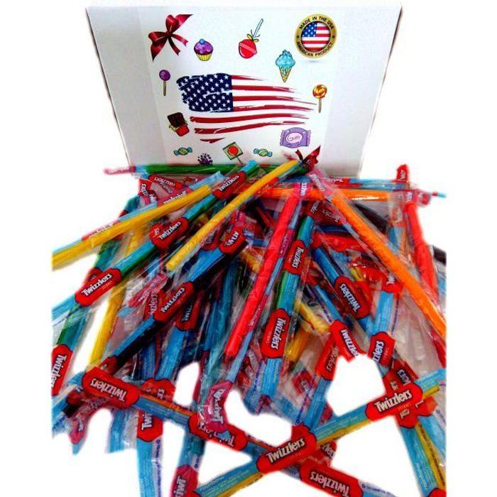 PACK TWIZZLERS RAINBOW réglisse americain snacks bonbon import etats unis box pas cher kit melange confiserie friandises americains