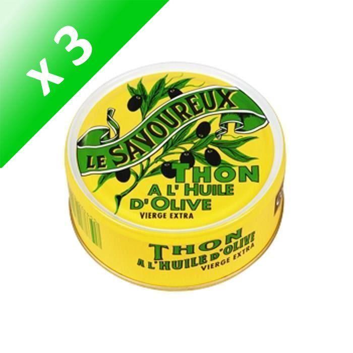 [LOT DE 3] Thon à l'huile d'olive 160 g Le Savoureux