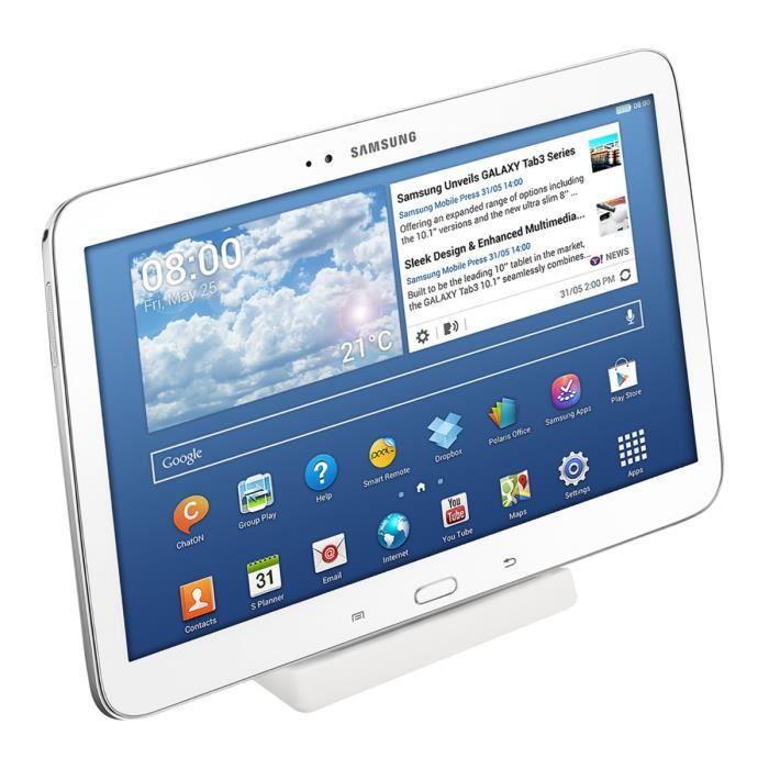 kwmobile Station de charge pour tablette Station d'accueil universelle avec base antidérapante pour recharge micro usb blanc