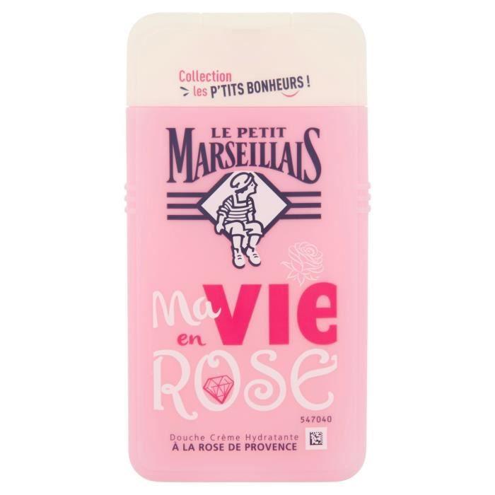 LOT DE 24 - LE PETIT MARSEILLAIS Ma Vie en Rose Gel douche rose de Provence - flacon de 250 ml