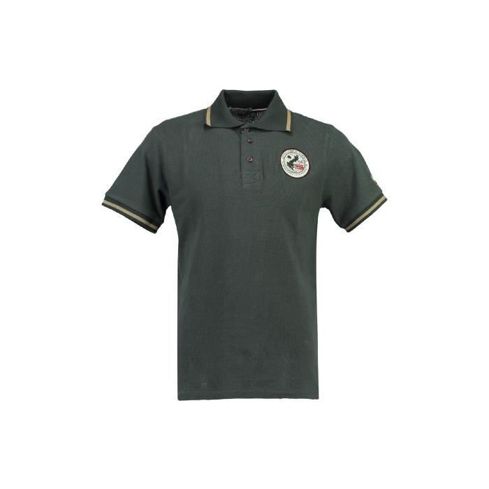Polo Homme Geographical Norway Kamelo Gris