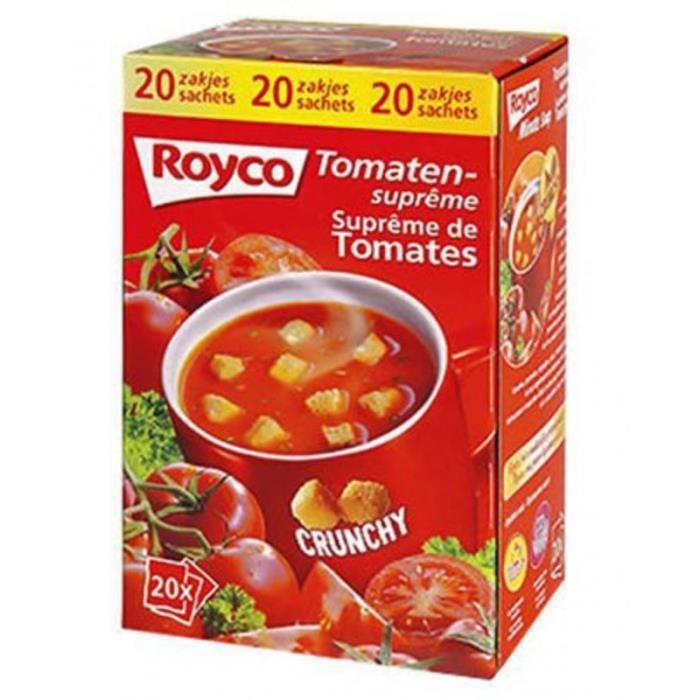 Royco Minute Soup Crunchy Tomates (carton de 24)