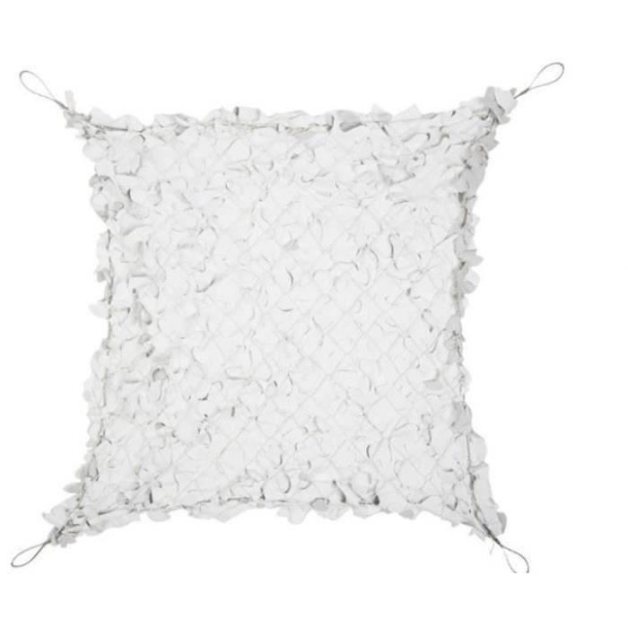 Filet de camouflage 80% de protection 5x5m câble acier - Blanc