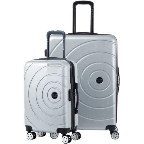 TRAVEL WORLD Ensemble de 2 valises 55/75cm Argent