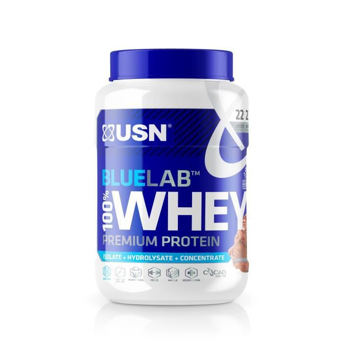 USN Blue Lab Whey Chocolat USNUB01 - Bleu et blanc - 750 g