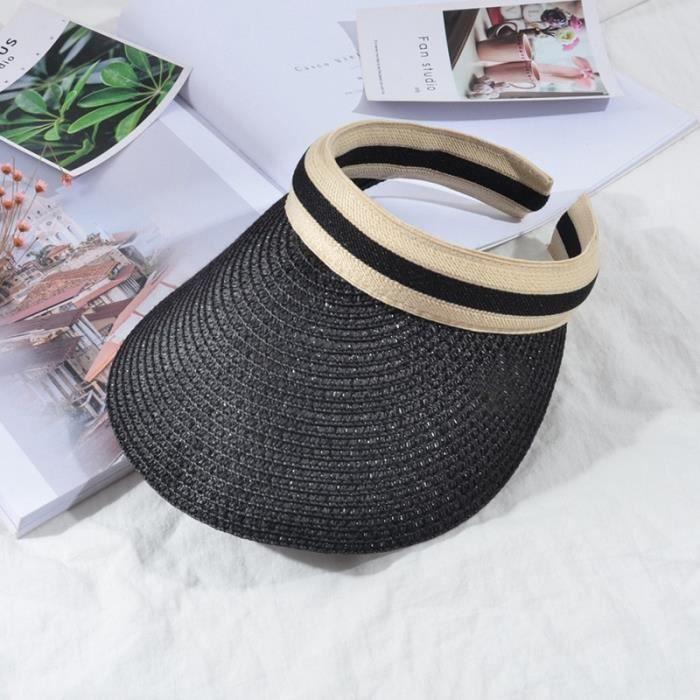 4 -Chapeaux pour femmes simples, casquette de carte, chapeau de soleil, visière de couleur unie, mode, respirant, chapeau de soleil