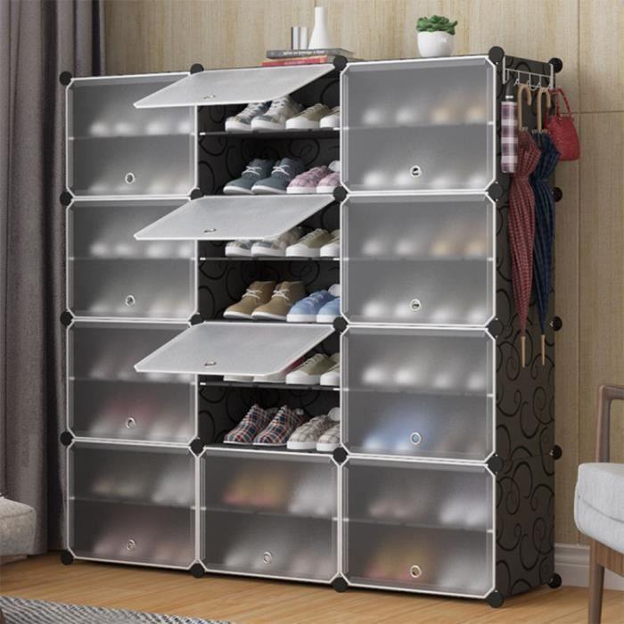 Luxs Armoire Penderie De Chambre Diy Meuble Rangement Grande Capacite De 12 Cubes Achat Vente Meuble A Chaussures Luxs Armoire Penderie De Ch Cdiscount