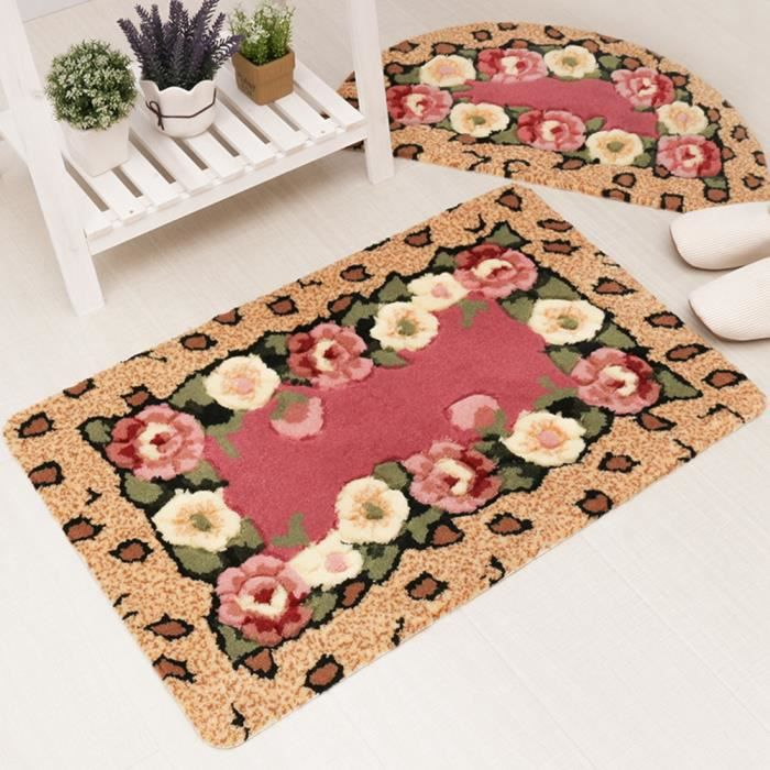 tapis de sol entr e anti poussi re paillassons maison chambre fille tapis d co tapis floral avec. Black Bedroom Furniture Sets. Home Design Ideas
