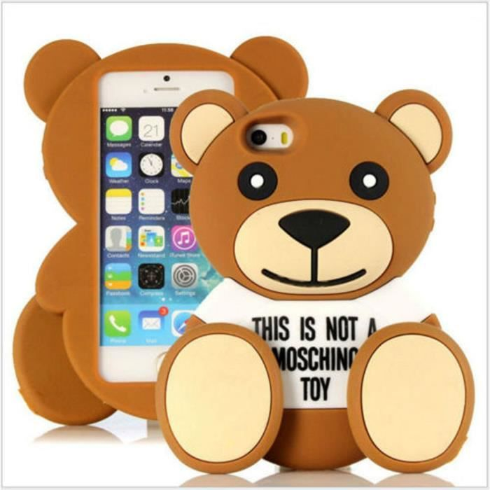 coque apple iphone 5 iphone 5s marron mode moschin