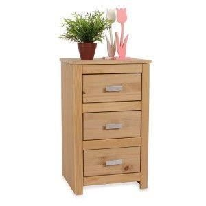 Commode armoire 3 tiroirs pin massif aspect ch ne achat vente commode s - Commode en pin massif ...