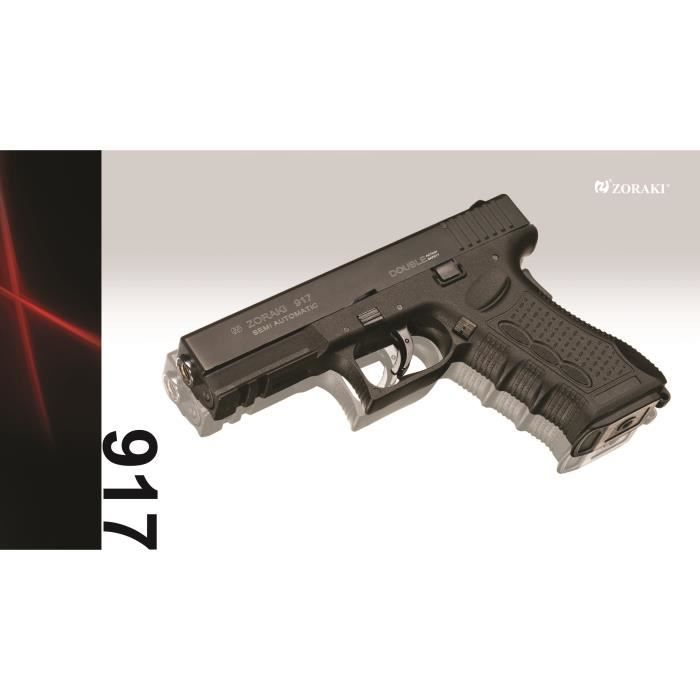 Zoraki 917 black arme de d fense cal 9mm p a k prix pas for Arme defense maison