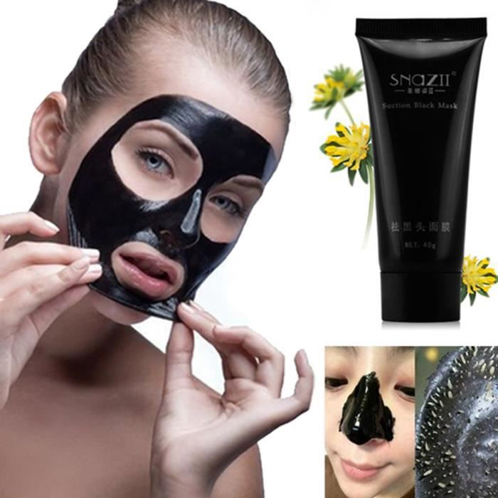 masque anti point noir charbon