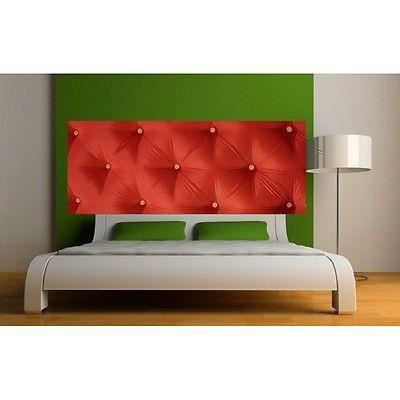 papier peint t te de lit capitonn rouge 3621 dimensions. Black Bedroom Furniture Sets. Home Design Ideas