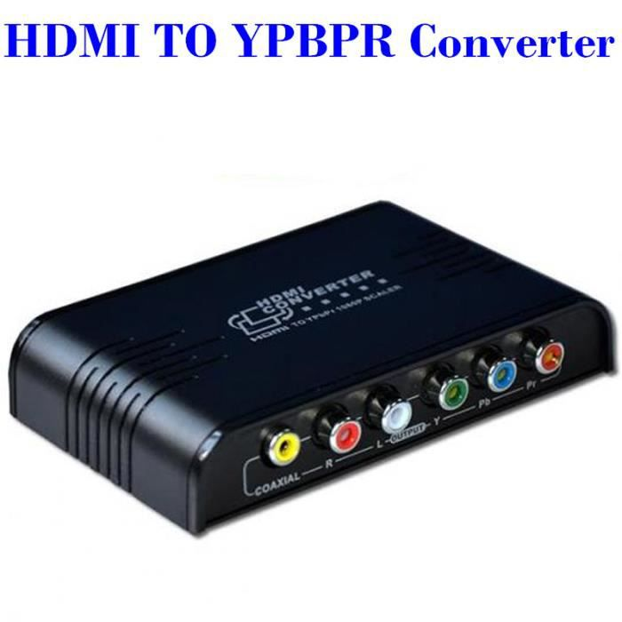 convertisseur hdmi vers audio vid o ypbpr sorties coaxial repartiteur tv avis et prix pas. Black Bedroom Furniture Sets. Home Design Ideas