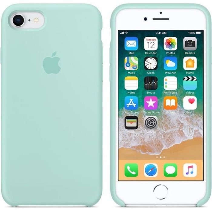 apple coque en silicone iphone 7 8 4 7 ciel