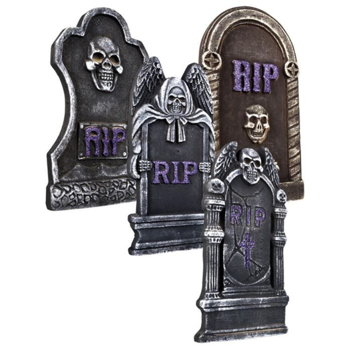 pierre tombale deco halloween achat vente pierre tombale deco halloween pas cher cdiscount. Black Bedroom Furniture Sets. Home Design Ideas