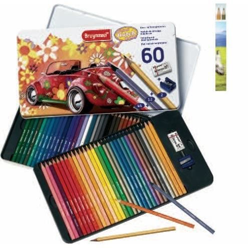coffret 60 crayons de couleur bruynzeel achat vente crayon de couleur coffret 60 crayons de. Black Bedroom Furniture Sets. Home Design Ideas