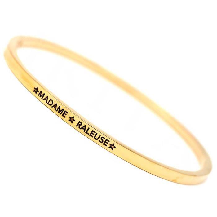 """Bracelet créateur /""""Cléopatra/"""" 3 tons M6296 Les Trésors De Lily"""