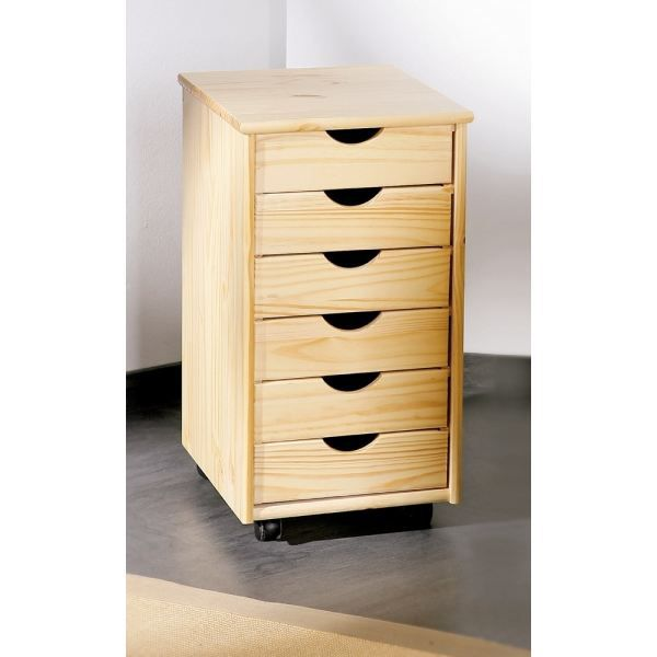 caisson pin massif vernis naturel achat vente caisson de bureau caisson pin massif vernis n. Black Bedroom Furniture Sets. Home Design Ideas