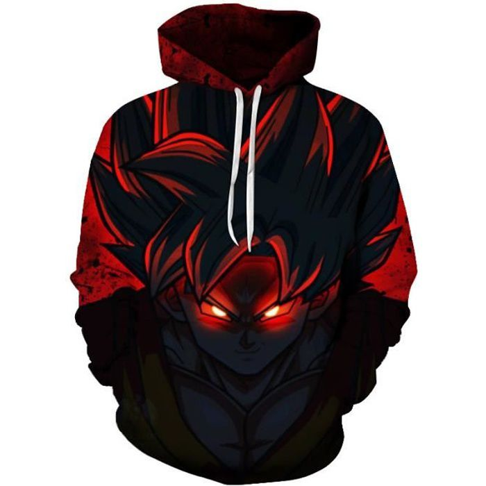 33322a60f274 Dragon Ball Z Sweat à capuche Homme Femme Automne Hiver Goku Pull ...