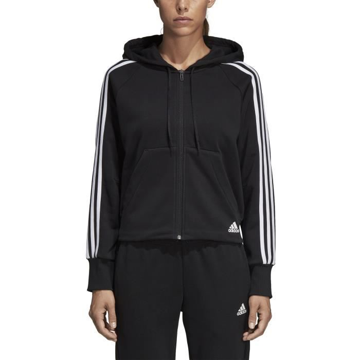 À Terry French 3 Must Veste Stripes Capuche Femme Adidas Haves qzpVGSUM