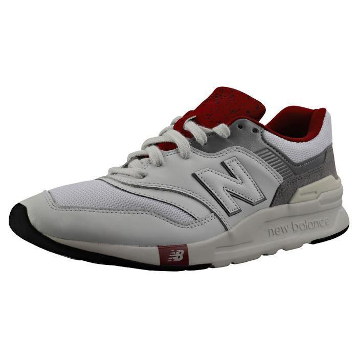 new balance rouge blanc