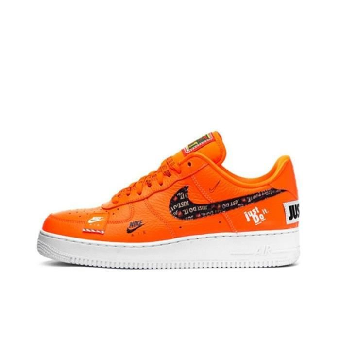 nike air force 1 just do it orange enfant