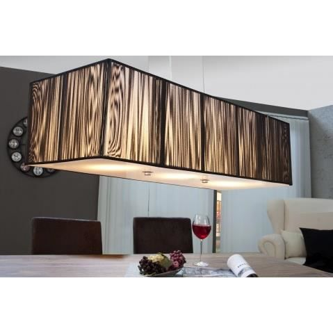 Lustre suspension design noir venise xl achat vente for Suspension design noir