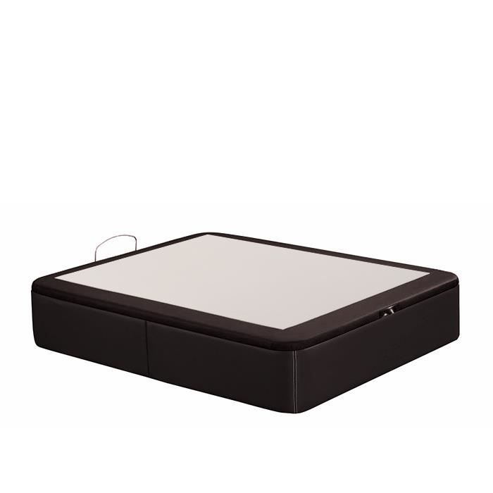lit coffre dop 160x190 simili cuir marron tatami tapiss achat vente lit complet lit. Black Bedroom Furniture Sets. Home Design Ideas