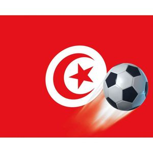AFFICHE - POSTER Poster Reproduction Football - Drapeau De La Tunis