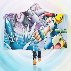 COUVERTURE - PLAID 3D  Hooded Blanket for Pokemon 8110   Couverture à