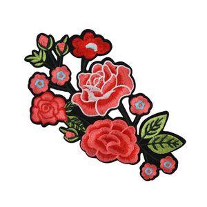 Fleur Rose Motif Col sew on patch Mignon Applique Badge Brodé Buste Robe