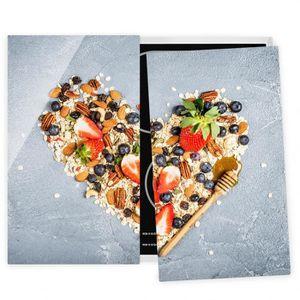 PLAQUE INDUCTION Couvre plaque de cuisson - Cereal Heart - 52x60cm,