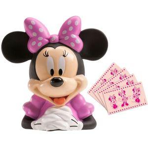 TIRELIRE Grande Tirelire Disney Minnie contenant 12 billets